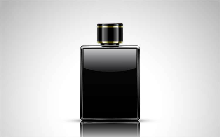 黒の染料が入っている小瓶の画像