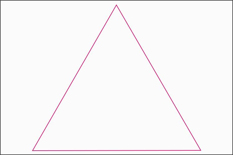 三角構図を表すイラスト