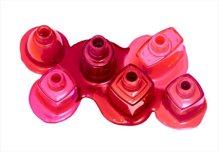 紅色或粉紅色墨水的圖像
