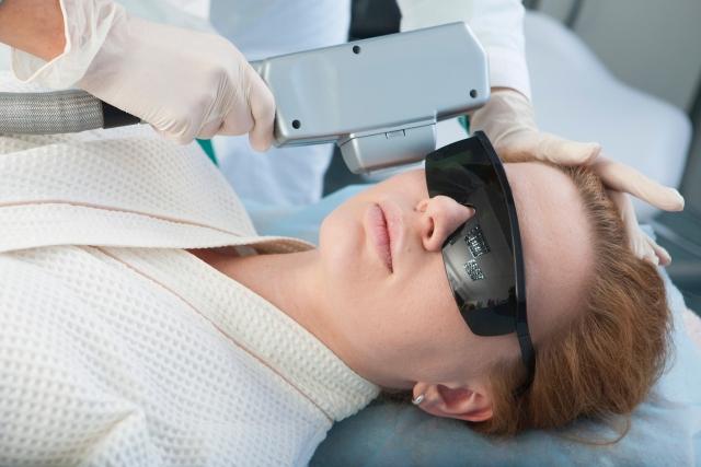 医療レーザーによる施術イメージ